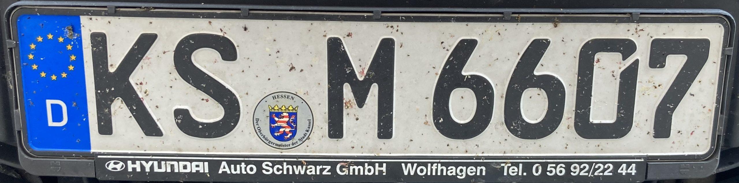 Registrační značky Německo - KS - Kassel, foto: www.podalnici.cz