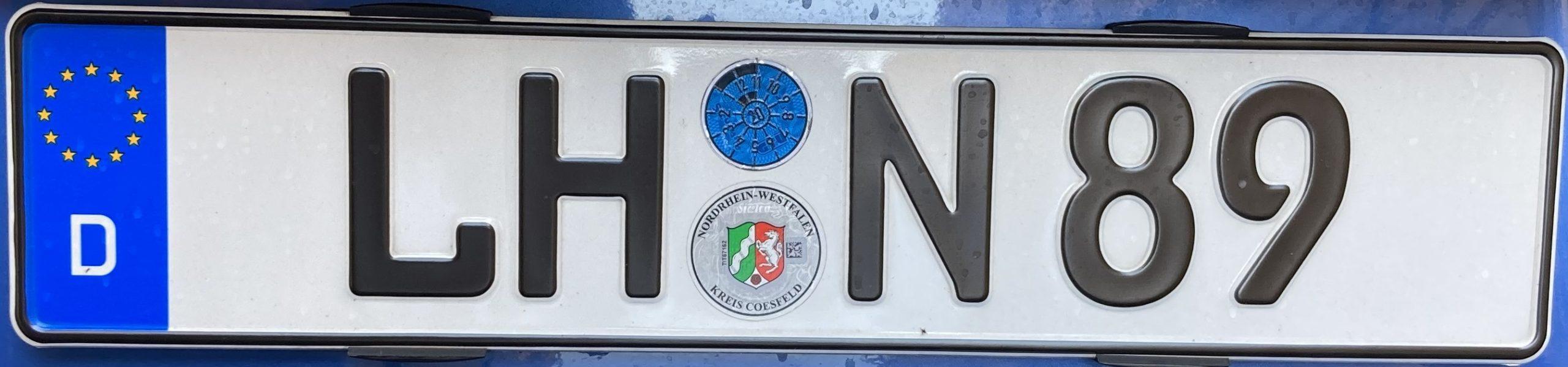 Registrační značky Německo - LH - Lüdinghausen, foto: www.podalnici.cz