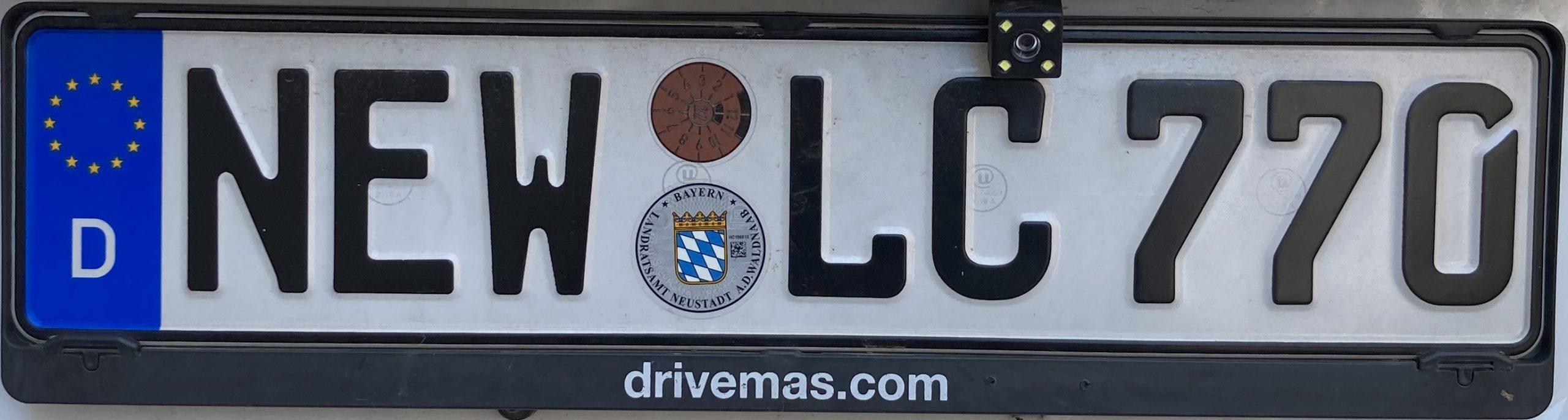 Registrační značky Německo - NEW - Neustadt an der Waldnaab, foto: www.podalnici.cz
