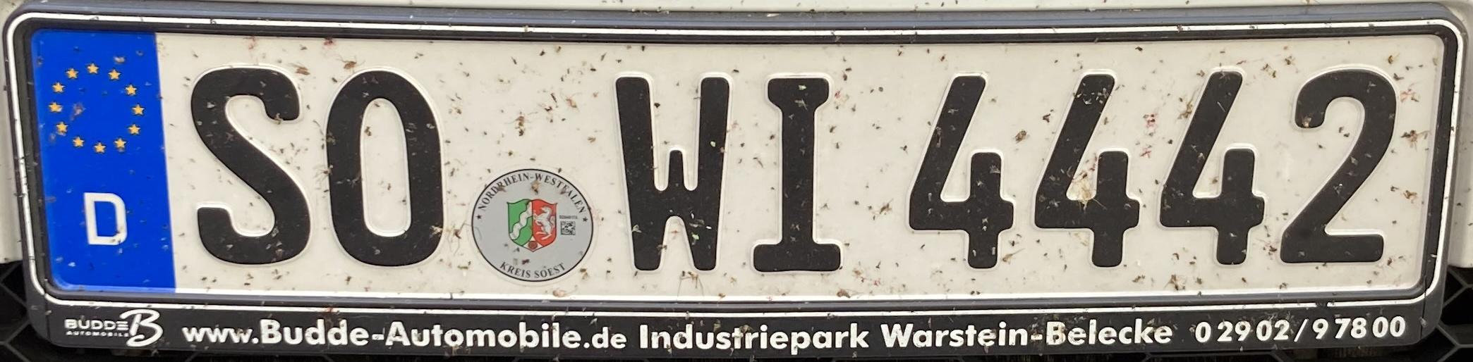 Registrační značky Německo - SO - Soest, foto: www.podalnici.cz