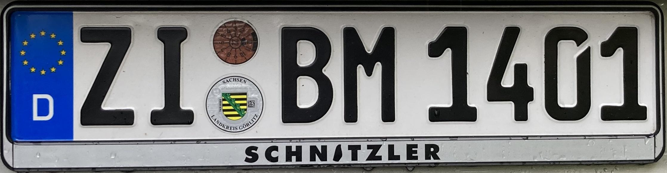 Registrační značky Německo - ZI - Zittau, foto: www.podalnici.cz