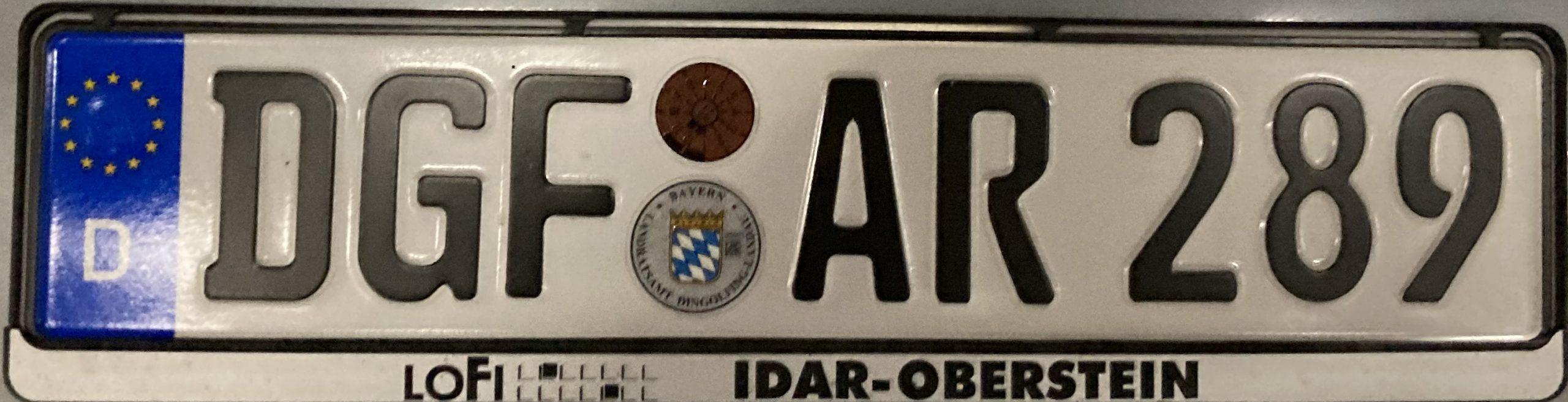 Registrační značky Německo - DGF - Dingolfing-Landau, foto: www.podalnici.cz