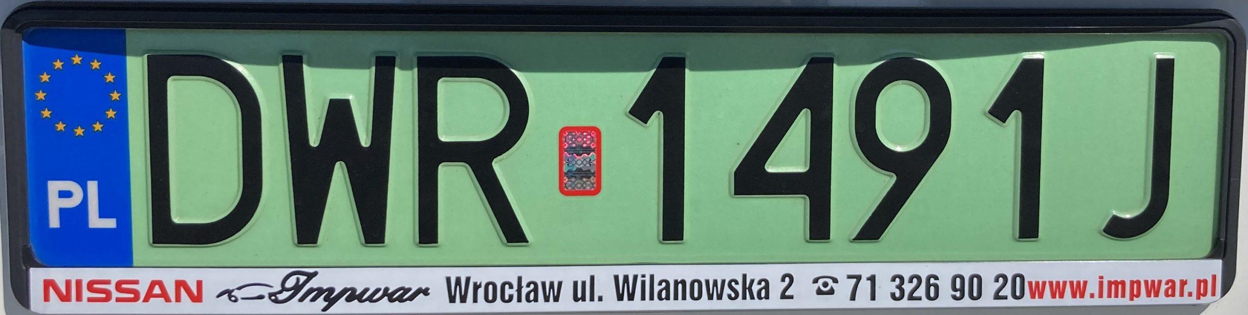 Polská registrační značka, elektromobil, foto: www.podalnici.cz