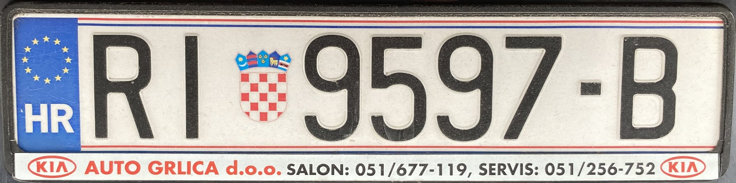Registrační značka Chorvatsko - RI - Rijeka, foto: www.podalnici.cz